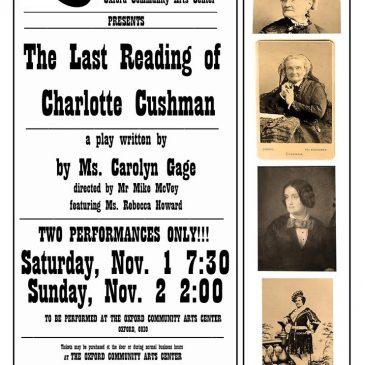The Last Reading of Charlotte Cushman