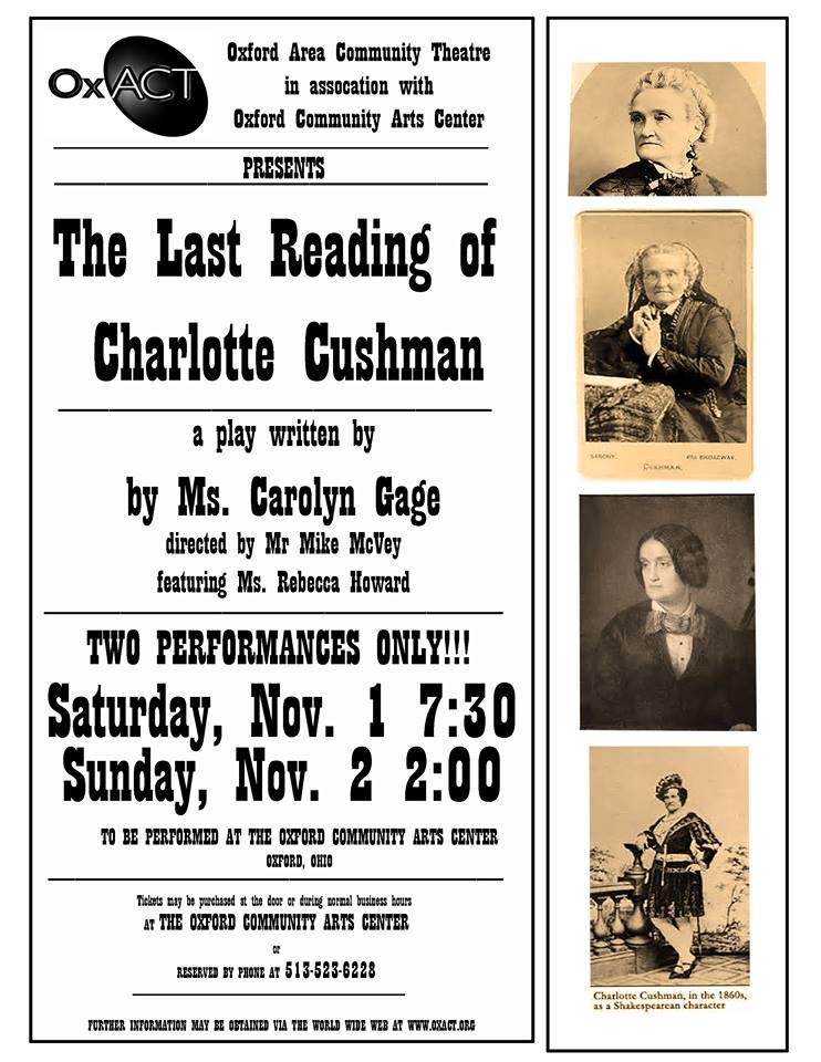 The Last Reading of Charlotte Cushman Poster