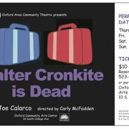 Walter Cronkite is Dead Poster