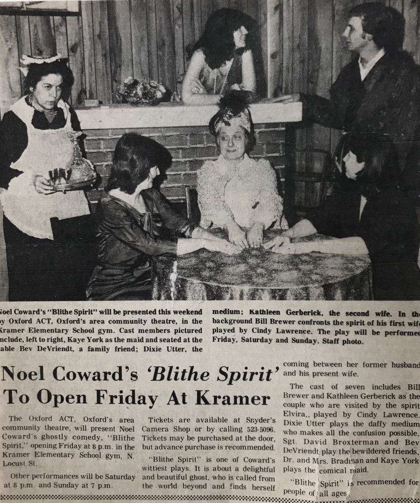 Blithe Spirit Article