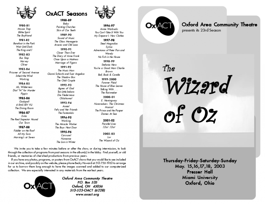 Wizard of Oz Program