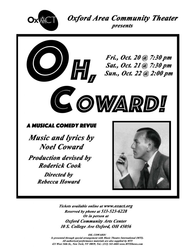 Oh Coward Poster