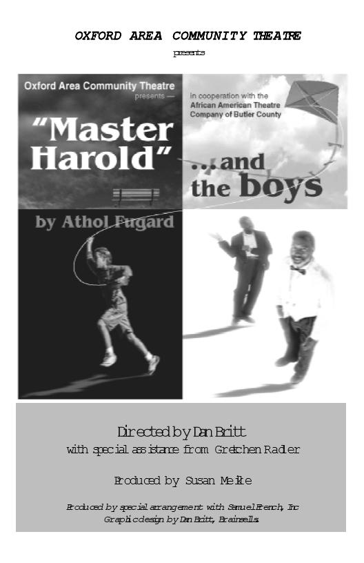 Master Harold...Program