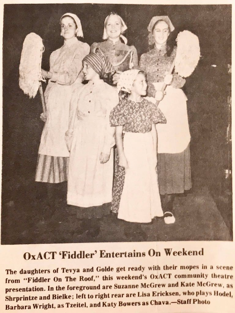 Fiddler on the Roof 1987 Article