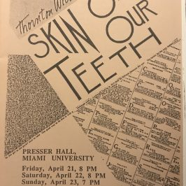The Skin of Our Teeth Program Cover
