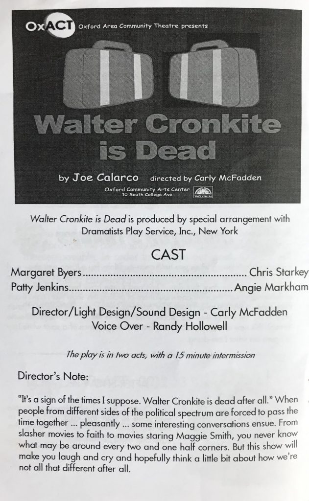 Walter Cronkite is Dead Program