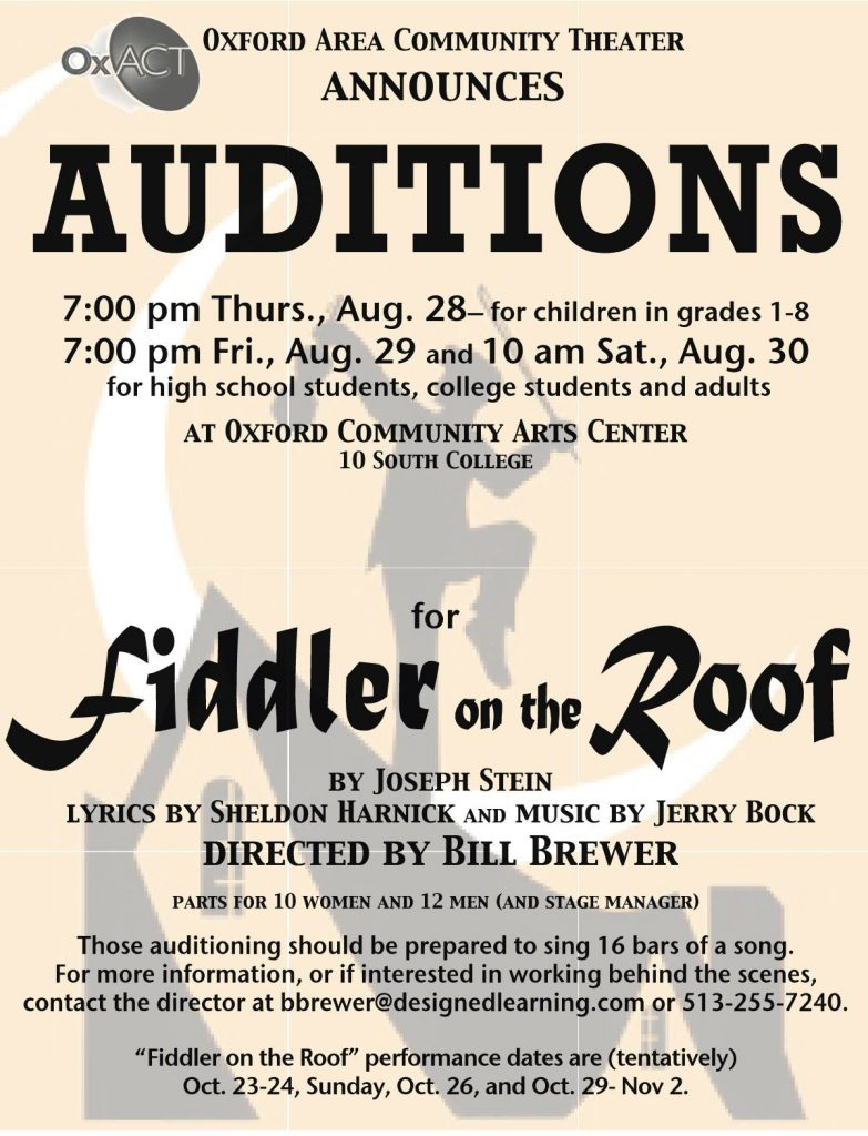Fiddler on the Roof 2008 Auditions